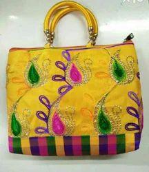Jari Cloth embroidery Pooja Bags
