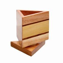 Wooden Revolving Pen Stands