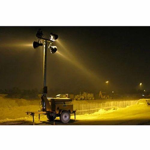 LED 쿨 화이트 모바일 라이트 타워, IP 등급 : IP55, Rs 300000 / 개 |  아이디 : 13506294012