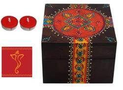 Wedding Gift Hamper - Decorative Box, Greeting Card