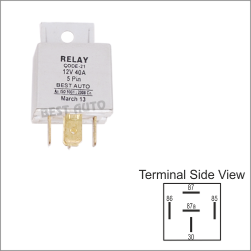 Relay 5 Pin With Clamp 12v 24v Automobile Relays Truck Relay Car Relay म टर व हन क र ल ऑट म ट व र ल In Bawana Industrial Area Delhi Vms Autocircuit Microsystems Private Limited Id 8951028955