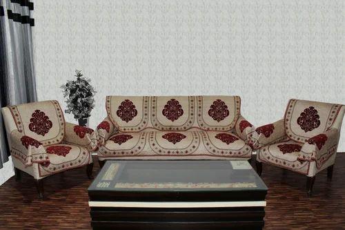 Chenille Sofa Cover Beauti Maroon 16