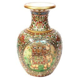 Fine Golden Marble Flower Vase MB132