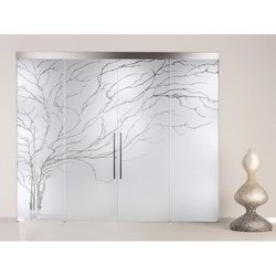 Frosted Printed Glass