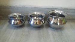 PRIYANKA STEEL Stainless Steel Dahi Handi Lotta, Usage: Home, Hotel/Restaurant