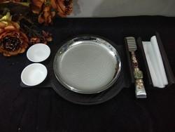 Round SS Wooden Platter