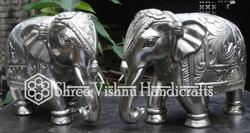 German Silver Elephant Statue