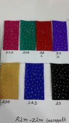 Georgette Glitter Work Fabrics