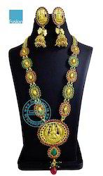 South Indian Long Temple Necklace Set