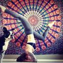 Indian Hippie Bohemian Mandala Beach Tapestry