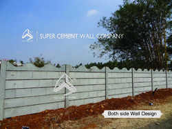 RCC Concrete Boundary Compound Wall