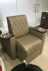 Leather Manicure Sofa With Bowl