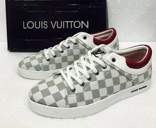 be10bbc15d16 Shoes - White Print Louis Vuitton Shoe Wholesaler from Hyderabad