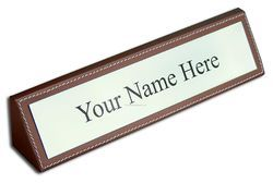 Rosewood Piano Finish Name Plate