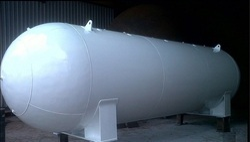 Black Mild Steel Liquid LNG Cryogenic Tank