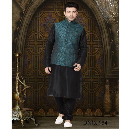 2c970364943e Indian Men Party Cum Casual Wear Kurta Churidar With Waist, Men ...