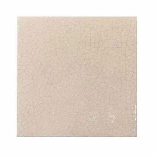 Designer White Abstract Ceramic Wall Tile Pack Of 8 L: Plain Ceramic Tiles