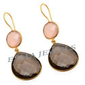 Smokey Quartz Stone Earring