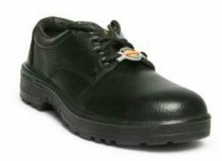 Liberty Warrior Leather Black Safety Shoes, Size: 6 - 11