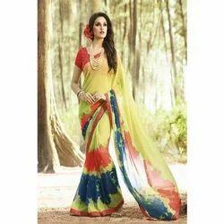 Multicolor Party Wear Printed Saree