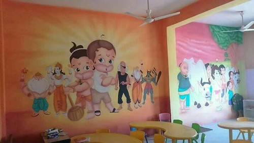 Kids School Painting Ideas Home Wall Painting House Wall Painting