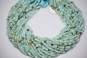 Peruvian Opal Faceted Rondelle Beads Strand