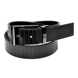 Black Formal Wear Stylish Mens Leather Belt