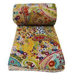 Vintage Kantha Stitch Gudri Floral Vintage Quilt