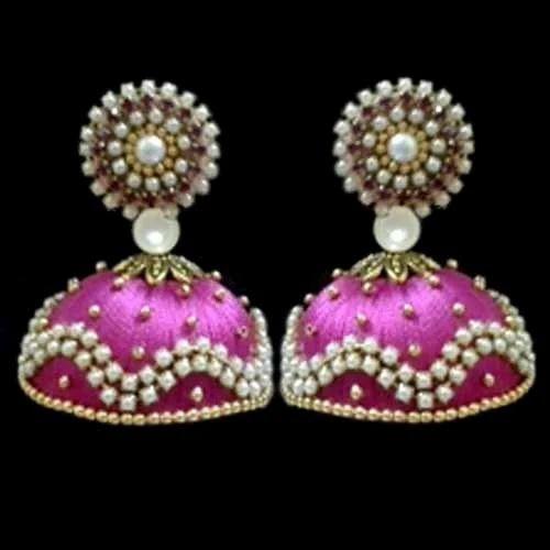 4d309f03f Silk Thread Jhumka at Rs 350 /pair | Earring Set | ID: 10995860748