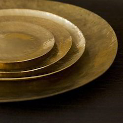 THG Metal Brass Trays, Shape: Round, Size: Various