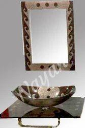 Golden Nayan Glass Wash Basin Full Set, Size/Dimension: 18x24, Packing Type: Box Packing