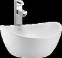 Snow White Ceramic Cera Cloister 1046 Table Top Wash Basin