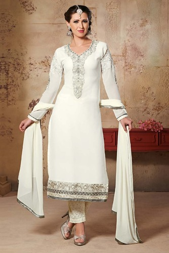 e7010df319 Manmauj Branded Designer White Embroidery Georgette Suit at Rs 750 ...