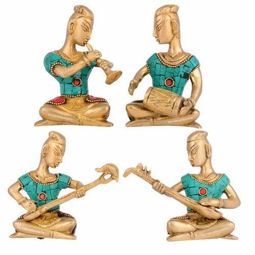 Brass Handicraft Boys Musicians Set At Rs 3100 Set Pital Ki
