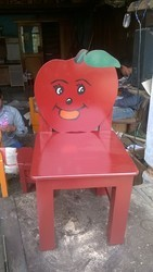 Red Wooden Apple Chair