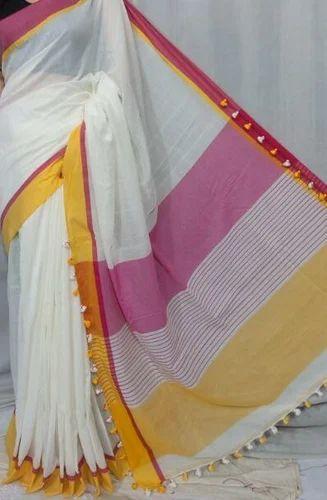 South Cotton Party Wear Khadi Soft Cotton Saree With Blouse Rs 850