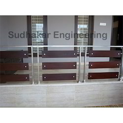 Steel With Glass Elevation Handrail