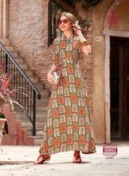 A-Line And Anarkali Printed Kajal Style Kurti