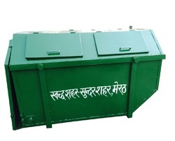 Mild Steel Geen MS Garbage Containers, Size: 4.5 Cubic M