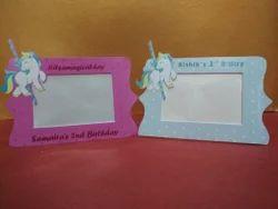 Unicorn Cardboard Photo Frames