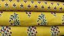 Neelofars Printed Yellow Cotton Fabric, For Garment, Gsm: 50-100