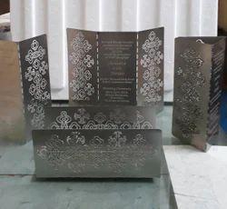 Metal Wedding Card
