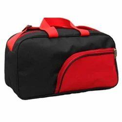 Red & Black Plain Promotional Luggage Bag