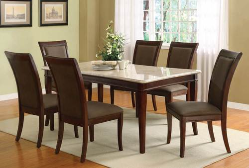 Brown Granite Top Dining Table