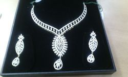 Designer Diamond Necklace with Earrings