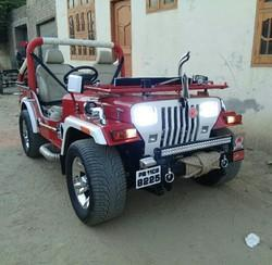 Mahindra Red Sports Jeep Rs 450000 Piece Arora Jeeps Modified