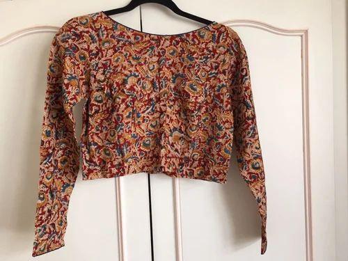 8eb3298221b Full Sleeve Boat Neck Jacket Style Cotton Blouse, Size: 36, Rs 500 ...