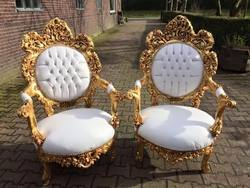 Gold Coated Royal Chair