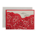 Floral Pull-out Insert Latest Laser Cut Wedding Cards