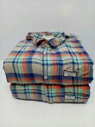 Cotton Checked Mens Casual  Shirts